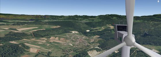 EBM Windkraftanlage in Liesberg (Visualisierung)